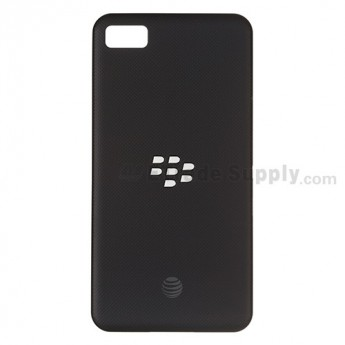 OEM BlackBerry Z10 Battery Door ,Black, With AT&T Logo