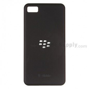 OEM BlackBerry Z10 Battery Door ,Black, With T-Mobile Logo