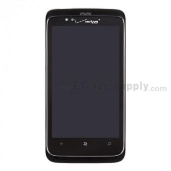 OEM HTC 7 Trophy LCD Screen and Digitizer Assembly with Front Housing ,With HTC Logo