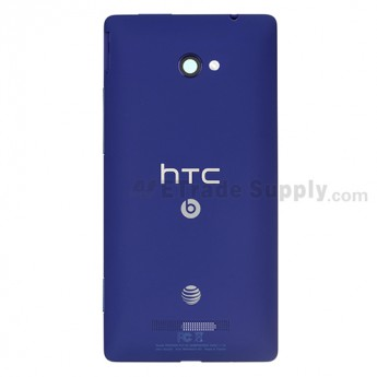 OEM HTC 8X Rear Housing ,Blue, With AT&T Logo