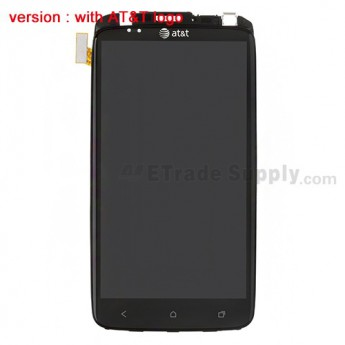 OEM HTC One X LCD Screen and Digitizer Assembly with Front Housing and Light Guide (B Stock) ,With AT&T Logo