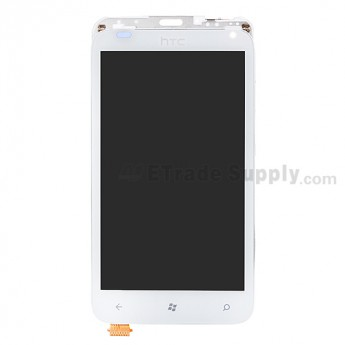 OEM HTC Radar LCD Screen and Digitizer Assembly with Front Housing ,White