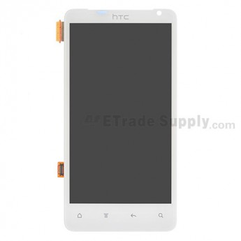 OEM HTC Raider 4G LCD Screen and Digitizer Assembly ,White, Without Carrier Logo