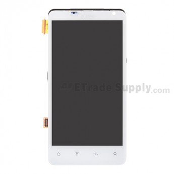 OEM HTC Vivid LCD Screen and Digitizer Assembly with Front Housing and Light Guide ,White, With AT&T Logo