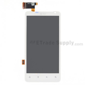 OEM HTC Vivid LCD Screen and Digitizer Assembly with Light Guide ,White, With AT&T Logo