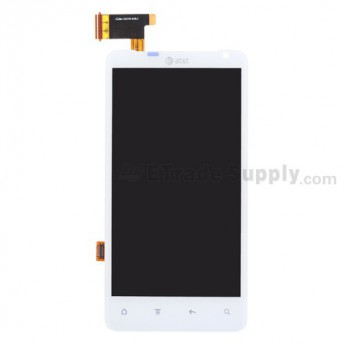OEM HTC Vivid LCD Screen and Digitizer Assembly without Light Guide ,White, With AT&T Logo