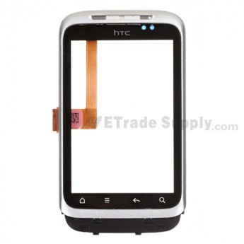 OEM HTC Wildfire S Digitizer Touch Screen with Front Housing (T-Mobile) ,White