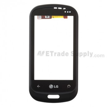 OEM LG Quantum C900 Digitizer Touch Screen with Front Housing ,Black, Without Carrier Logo