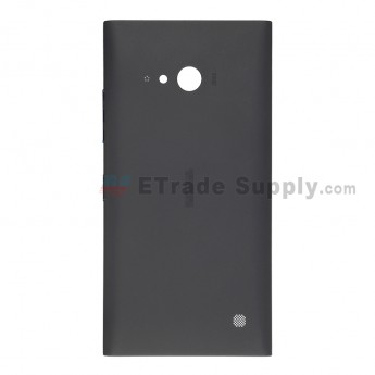 OEM Nokia Lumia 730 Dual SIM Battery Door - Black - With Nokia Logo Only (2)