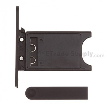 OEM Nokia Lumia 800 SIM Card Tray and Charging Port Cover ,Black