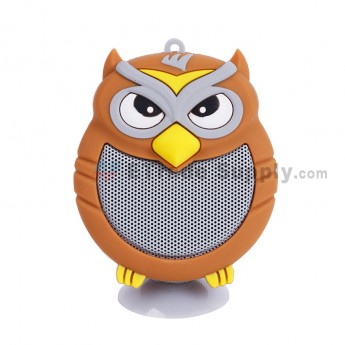 Portable Owl Wireless Bluetooth Speaker - Brown (3)