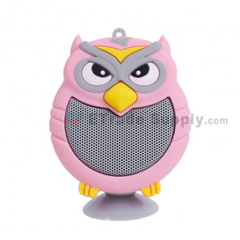 Portable Owl Wireless Bluetooth Speaker - Pink (4)