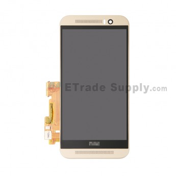 Replacement Part for HTC One M9 LCD Screen and Digitizer Assembly with Front Housing - Gold - HTC Logo - A Grade (0)