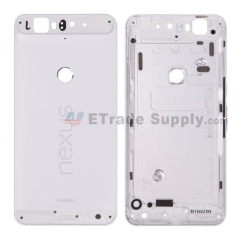 Replacement Part for Huawei Nexus 6P Rear Housing without Top and Bottom Cover - White - Nexus and Huawei Logo - A Grade (0)