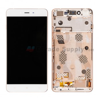 Replacement Part for OnePlus X E1001 LCD Screen and Digitizer Assembly with Front Housing - White - Without Any Logo - A Grade (4)