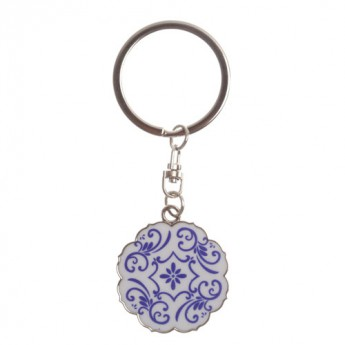 For Key Chain (blue and white) - Petal Style