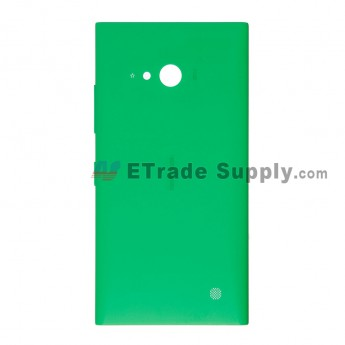 For Nokia Lumia 730 Dual SIM Battery Door with Wireless Charging Coil Replacement  - Green - With Logo - Grade S+
