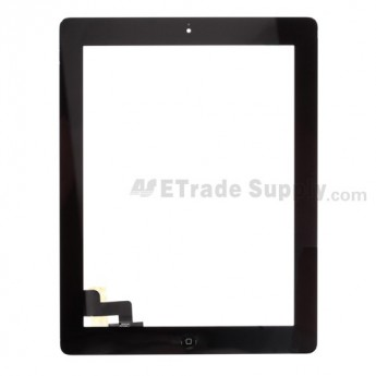 For Apple iPad 2 Digitizer Touch Screen Assembly Replacement (Wifi Version) - Black - Grade R