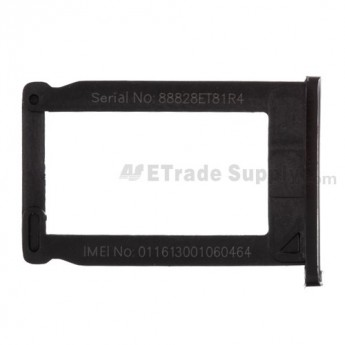 For Apple iPhone 3G, 3GS Sim Card Tray Replacement - Black - Grade R