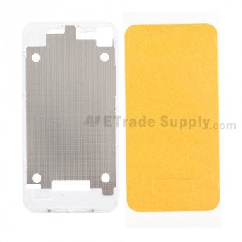 For Apple iPhone 4 Rear Housing Inner Plate with Adhesive Replacement (AT&T) - White - Grade R