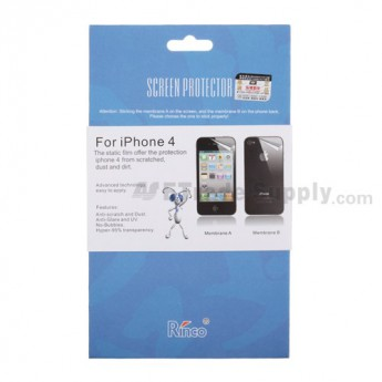 For Apple iPhone 4S, iPhone 4 Rinco Screen Protector Replacement - Grade R