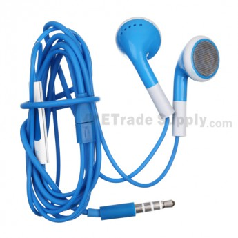 For Apple iPhone 5 Headphone with Remote and Mic - Blue - Grade R