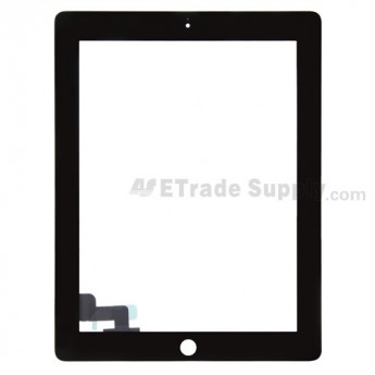 For Apple iPad 2 Digitizer Touch Screen Replacement (Available in Select Colors) - Black - Grade R