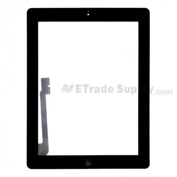 For Apple iPad 4 Digitizer Touch Screen Assembly Replacement (Wifi Version) - Black - Grade R