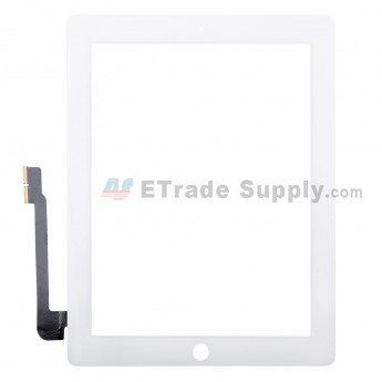 For Apple iPad 4 Digitizer Touch Screen Replacement - White - Grade R
