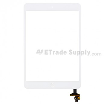 For Apple iPad Mini Digitizer Touch Screen Assembly with IC Board Replacement - White - Grade R