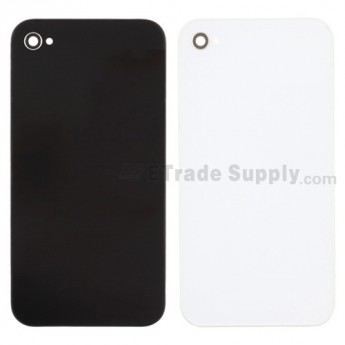 For Apple iPhone 4 Battery Door Replacement - Black -  without Logo - Grade R