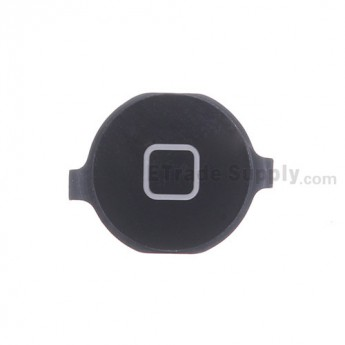 For Apple iPhone 4 Home Button Replacement (AT&T) - Black - Grade R