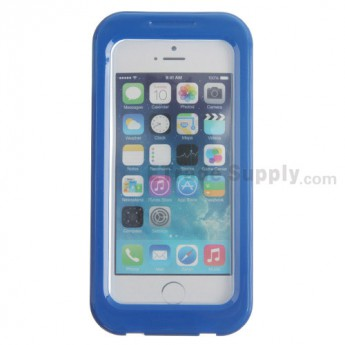 For Apple iPhone 4, iPhone 4S, iPhone 5 Detachable Waterproof Protective Case - Blue - Grade R