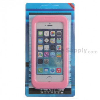 For Apple iPhone 4, iPhone 4S, iPhone 5 Detachable Waterproof Protective Case - Pink - Grade R