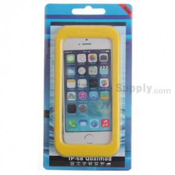 For Apple iPhone 4, iPhone 4S, iPhone 5 Detachable Waterproof Protective Case - Yellow - Grade R