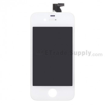 For Apple iPhone 4 LCD and Digitizer Assembly with Frame Replacement (AT&T) - White - Grade S+