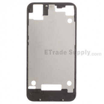 For Apple iPhone 4S Rear Housing Inner Plate with Adhesive Replacement - Black - Grade R