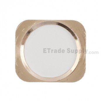 For Apple iPhone 5 Home Button Replacement - Gold - Grade R