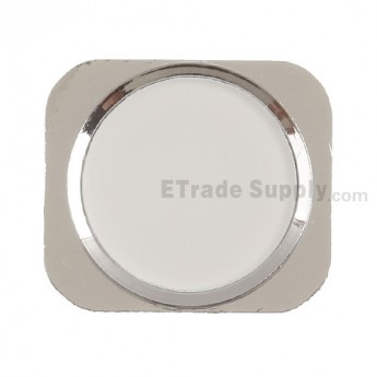 For Apple iPhone 5 Home Button Replacement - Silver - Grade R