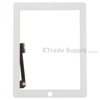 For Apple iPad 3 Digitizer Touch Screen Replacement - White - Grade R