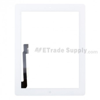 For Apple iPad 4 Digitizer Touch Screen Assembly Replacement (Wifi Plus 3G Version) - White - Grade R