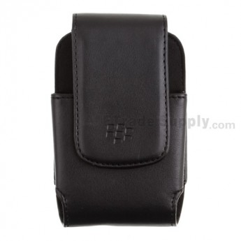For BlackBerry Bold 9000 Leather Case with Clip - Grade R