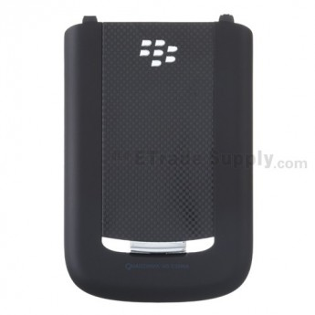 For BlackBerry Bold 9650 Battery Door Replacement - Black - Grade R