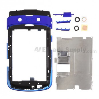 For BlackBerry Bold 9700 Middle Plate Replacement ,Blue - Grade R