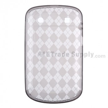 For BlackBerry Bold Touch 9900/9930 Soft Crystal Case - Black - Grade R