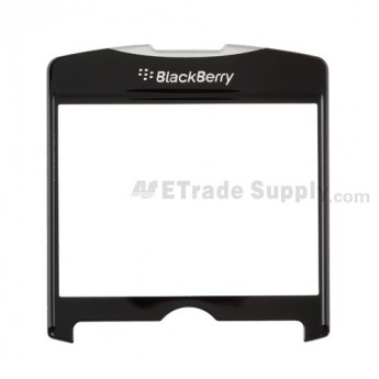 For BlackBerry Curve 8300, 8310, 8320 Glass Lens without Adhesive Replacement - Black - Grade R