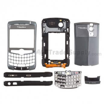 For BlackBerry Curve 8300 Complete Housing with Intermixed Components Replacement (T-Mobile) ,Gold - Grade R