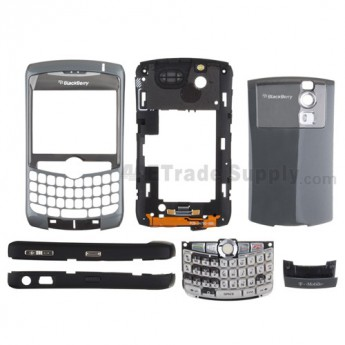For Blackberry Curve 8320 Complete Housing with Intermixed Components Replacement (T-Mobile) ,Gray - Grade R