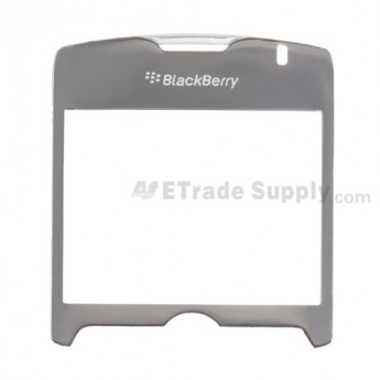 For Blackberry Curve 8330 Glass Lens with Adhesive Replacement - Silver - Grade R