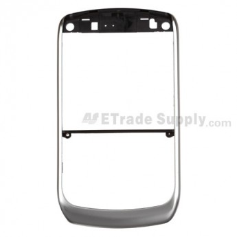 For BlackBerry Curve 8900 Chrome Bezel without Side Key Replacement - Silver - Grade R
